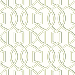 Quantum Green Trellis Wallpaper 2625-21813