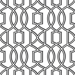 Quantum Black Trellis Wallpaper 2625-21814