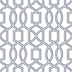 Quantum Blue Trellis Wallpaper 2625-21815