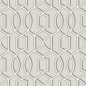 Quantum Grey Trellis Wallpaper 2625-21817