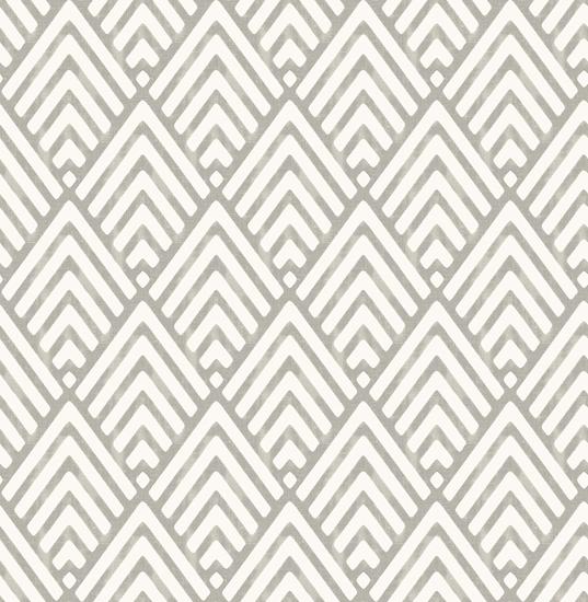 Vertex Charcoal Diamond Geometric Wallpaper 2625-21825