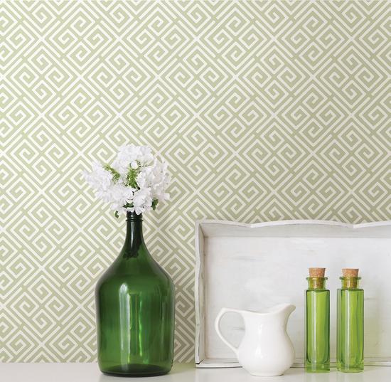 Vertex Green Diamond Geometric Wallpaper 2625-21827