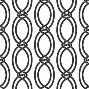 Infinity Black Geometric Stripe Wallpaper 2625-21834