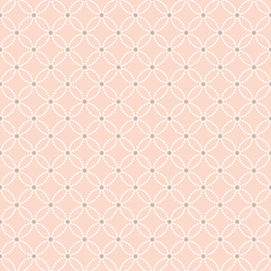 Kinetic Salmon Geometric Floral Wallpaper 2625-21840