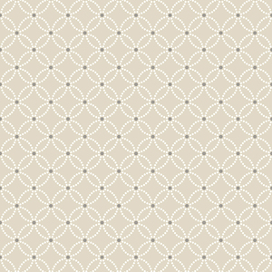 Kinetic Beige Geometric Floral Wallpaper 2625-21841