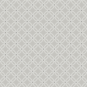 Kinetic Grey Geometric Floral Wallpaper 2625-21843