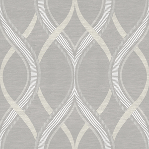 Frequency Grey Ogee Wallpaper 2625-21850