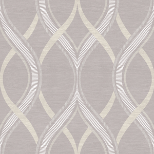 Frequency Lavender Ogee Wallpaper 2625-21852