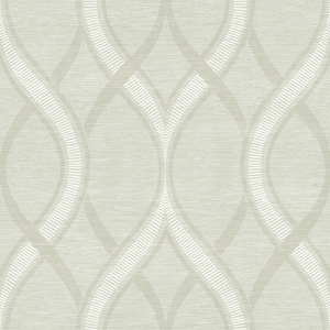 Frequency Green Ogee Wallpaper 2625-21853