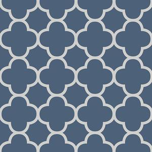 Origin Blue Quatrefoil Wallpaper 2625-21855