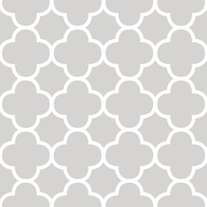 Origin Grey Quatrefoil Wallpaper 2625-21856
