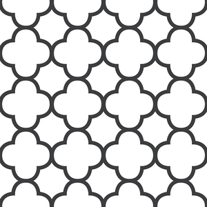 Origin Black Quatrefoil Wallpaper 2625-21858