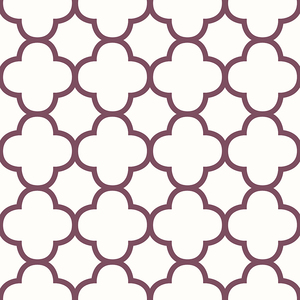 Origin Burgundy Quatrefoil Wallpaper 2625-21859
