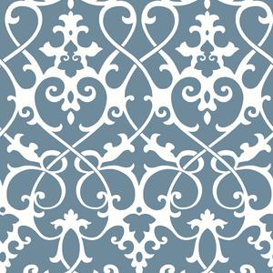 Axiom Blue Ironwork Wallpaper 2625-21865