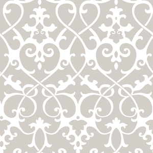 Axiom Taupe Ironwork Wallpaper 2625-21867