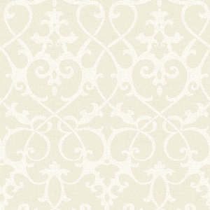 Axiom Beige Ironwork Wallpaper 2625-21868