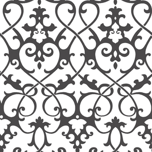 Axiom Black Ironwork Wallpaper 2625-21869