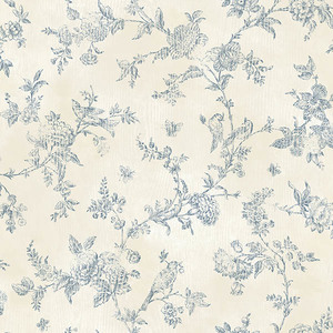 French Nightingale Blueberry Toile CCB02192