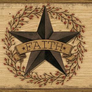 Faith Barn Star Brown Border CCB2253