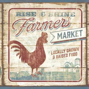 Farmers Market Dark Red Border CCB2261