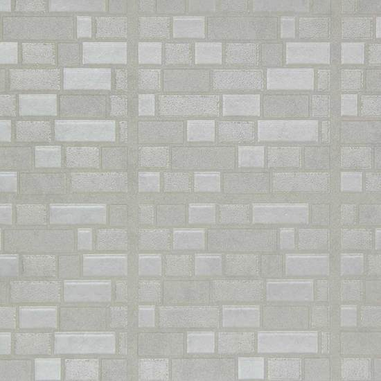 White Iridescent Bricks WW741
