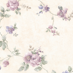 Mary Purple Floral Vine Wallpaper 992-44421