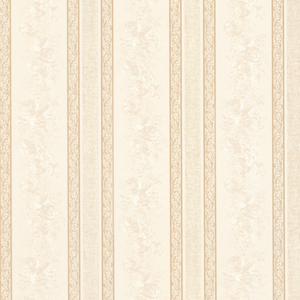 Trish Cream Satin Floral Scroll Stripe Wallpaper 992-68320