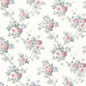 Kristin White Rose Trail Wallpaper 992-68358