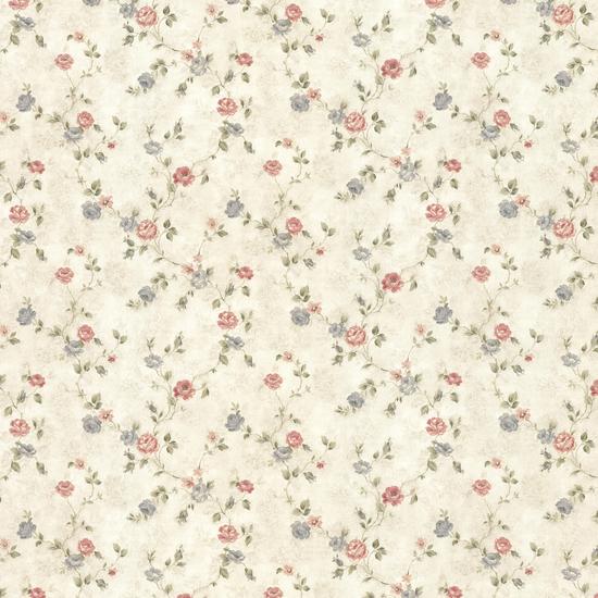 Alex Beige Delicate Satin Floral Trail Wallpaper 992-44418