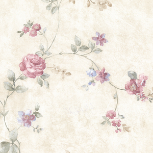 Mary Pink Floral Vine Wallpaper 992-44420