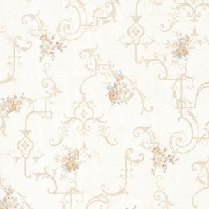 Lori Taupe Floral Trellis Wallpaper 992-68307