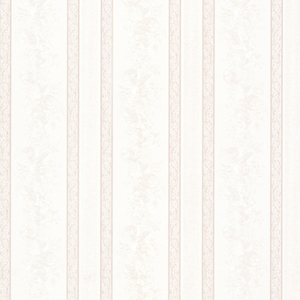 Trish Platinum Satin Floral Scroll Stripe Wallpaper 992-68321