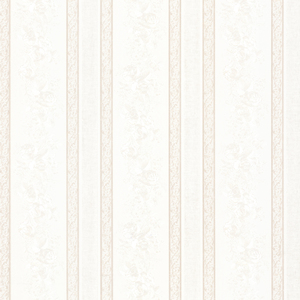 Trish White Satin Floral Scroll Stripe Wallpaper 992-68322