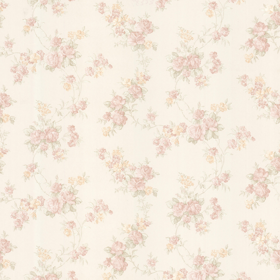 Tiffany Blush Satin Floral Trail Wallpaper 992-68323