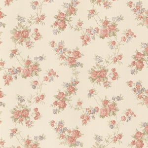Tiffany Peach Satin Floral Trail Wallpaper 992-68324