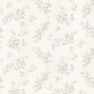 Tiffany Lavender Satin Floral Trail Wallpaper 992-68326