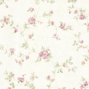 Mary Mauve Floral Vine Wallpaper 992-68332
