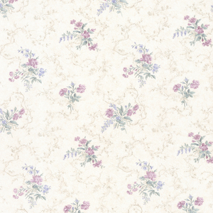Marie Purple Delicate Floral Bouquet Wallpaper 992-68338