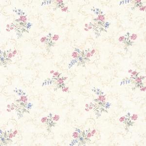 Marie Pink Delicate Floral Bouquet Wallpaper 992-68340