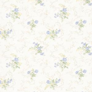 Marie Light Blue Delicate Floral Bouquet Wallpaper 992-68341