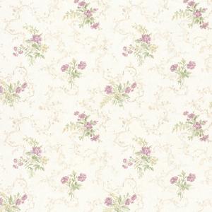 Marie Mauve Delicate Floral Bouquet Wallpaper 992-68342