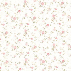 Alex Pink Delicate Satin Floral Trail Wallpaper 992-68348