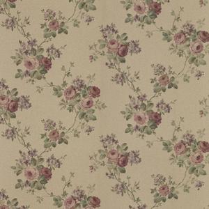 Kristin Burgundy Rose Trail Wallpaper 992-68357