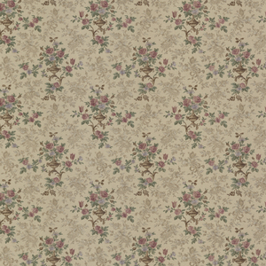 Kezea Light Brown Petit Floral Urn Wallpaper 992-68361