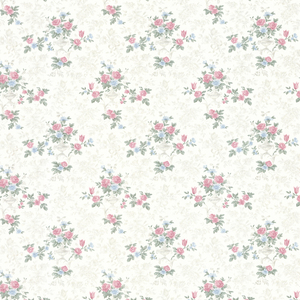Kezea White Petit Floral Urn Wallpaper 992-68362