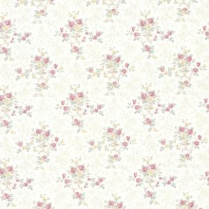 Kezea Pink Petit Floral Urn Wallpaper 992-68363