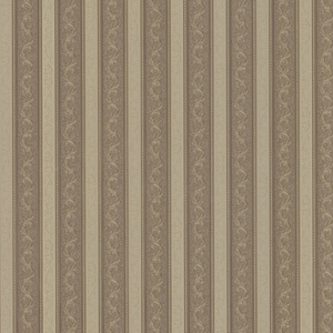 Kendra Brass Scrolling Stripe Wallpaper 992-68365