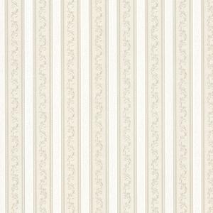 Kendra Taupe Scrolling Stripe Wallpaper 992-68367