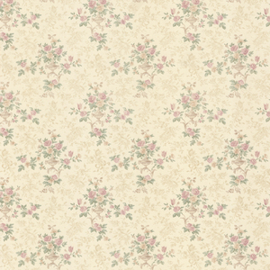 Kezea Blush Petit Floral Urn Wallpaper 992-68370