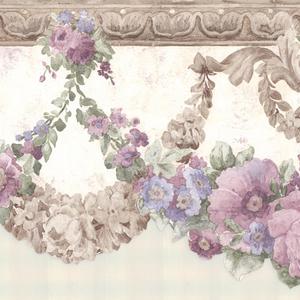 Marianne Purple Floral Bough Border 992B06659